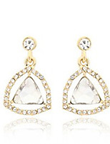 Women's Fashion Crystal Diamonds Triangle Pendant Earrings