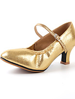 Damen Modern Künstliche Mikrofaser Polyurethan Sandalen Praxis Gold Schwarz Silber Rot