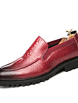 cheap -Men's Shoes Leatherette Spring Fall Comfort Loafers & Slip-Ons for Casual Office & Career Red Black