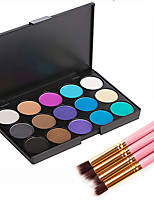 15 Lidschattenpalette Trocken Matt Schimmer Mineral Lidschatten-Palette Puder Smokey Makeup Alltag Make-up Halloween Make-up Party Make-up