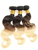 4Pcs/lot 400g 18inch Unprocessed Brazilian Virgin Hair Deep Wave Human Hair Two Tone 1b/33 Curl Ombre Hair Weaves