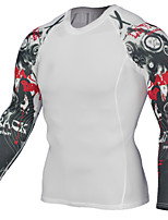 Men's Baselayer Long Sleeves Sweat-Wicking Breathability Stretchy Sweatshirt Compression Clothing Top for Running/Jogging Soccer/Football