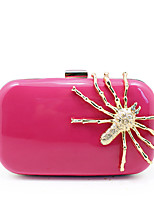 Women Bags All Seasons PC Evening Bag with Rhinestone for Wedding Event/Party Casual Formal Office & Career Fuchsia