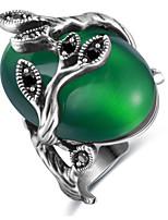 Damen Eheringe Bandringe Synthetischer Opal Basis Modisch individualisiert nette Art Luxus-Schmuck Klassisch Elegant Aleación Ovale Form