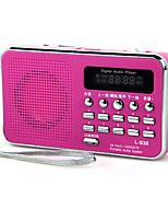 L-938 Radio portable Lecteur MP3 Carte TFWorld ReceiverBlanc Noir Rouge Bleu Rose