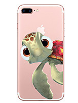 Para iPhone X iPhone 8 Case Tampa Transparente Estampada Capa Traseira Capinha Animal Macia PUT para Apple iPhone X iPhone 8 Plus iPhone