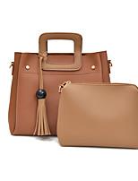 Women Bags All Seasons PU Bag Set 2 Pcs Purse Set Rivet for Casual Green Black Red Gray Brown