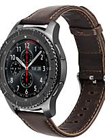 abordables -Pour hoco samsung gear s3 frontière bracelet classique bracelet en cuir véritable montre remplacement smartwatch bracelet bracelet