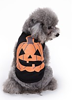 Dog Shirt / T-Shirt Vest Dog Clothes Party Casual/Daily Fashion Pumpkin Black