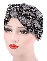 Women's Fashion Floral Solid  Floppy Bucket Turban Hat & Cap
