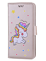 cheap -Case For OnePlus 5 Card Holder with Stand Flip Pattern Full Body Cases Unicorn Hard PU Leather for One Plus 5