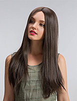 Natural Graceful Midsplit  Long Straight Hair Synthetic Wigs