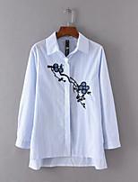 Camicia Da donna Per uscire Casual Semplice Attivo Primavera Autunno,Tinta unita A strisce Fantasia floreale CollettoSeta Cotone