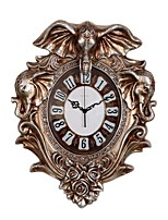 Modern/Contemporary Traditional Country Casual Retro Animals Wall ClockElephant Animal Resin Indoor Clock