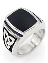Men's Midi Rings Band Rings Basic Hypoallergenic Stainless Steel Square Jewelry For Party Gift