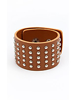 Men's Women's Leather Bracelet Handmade Punk Leather Circle Jewelry For Wedding Casual Going out Street