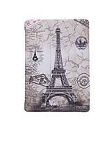 Para Apple ipad (2017) capa capa com suporte flip pattern auto sleep / wake up corpo inteiro eiffel tower hard pu couro ipad air 1 2 mini