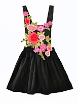 Девичий Платье На каждый день Хлопок Цветочный принт Лето Осень Без рукавов