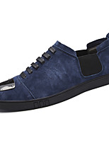 Men's Shoes Leather Spring Fall Comfort Sneakers Lace-up For Casual Office & Career Khaki Blue Black