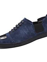 Da uomo Scarpe Di pelle Primavera Autunno Comoda Sneakers Lacci Per Casual Nero Blu Cachi