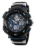 SKMEI Per uomo Orologio sportivo Orologio da polso Giapponese Quarzo Calendario Cronografo Resistente all'acqua Due fusi orari Cronometro