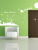 Navidad Romance Día Festivo Pegatinas de pared Calcomanías de Aviones para Pared Calcomanías Decorativas de Pared Material Decoración
