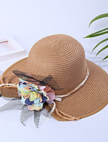 Women's Straw Straw Hat Sun Hat,Casual Hats Solid Summer Pure Color