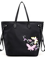 Women Bags All Seasons Nylon Shoulder Bag for Casual Black Purple Navy Blue
