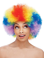 Parrucche sintetiche Senza tappo Medio Riccio Arcobaleno Parrucca riccia stile afro Per donne di colore Parrucca Cosplay costumi parrucche