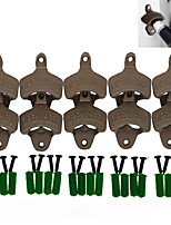 Open Here Bottle Opener Vintage Style Wall Mount Man Cave Antique Bottle Beer Opener Hanging Wall Hook Beer-- 10 pcs