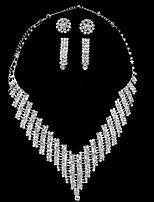 Femme Colliers chaînes Strass Forme Géométrique Alliage Fait à la main Classique Bijoux Pour Mariage Scène