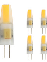 2W G4 LED Bi-pin Lights T 1 leds COB Warm White 160lm 2800-3500;K AC/DC 12V