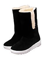 Для женщин Ботинки Удобная обувь Зима Ткань Повседневные Бант На плоской подошве Черный Красный Хаки На плоской подошве