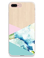 Para iPhone X iPhone 8 Case Tampa Transparente Estampada Capa Traseira Capinha Estampa Geométrica Macia PUT para Apple iPhone X iPhone 8