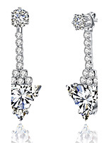 Women's Drop Earrings Rhinestone AAA Cubic Zirconia Luxury Bling Bling Statement Jewelry Chrismas Classic Cubic Zirconia Rhinestone