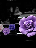 Car Air Outlet Grille Perfume Single Lagerstroemia Flower Purple Purple Purple Purple Plastic Material   Automotive Air Purifier