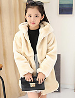 Girls' Solid Jacket & Coat,Rayon Spring Fall Long Sleeve