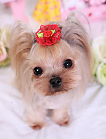 Dog Hair Accessories Dog Clothes Casual/Daily Solid Fuchsia Red Blushing Pink