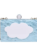 Women Bags All Seasons PC Evening Bag Chain for Wedding Event/Party Casual Formal Outdoor Sky Blue