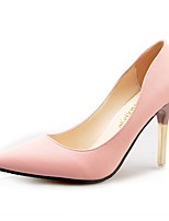 Women's Heels Comfort PU Fall Winter Casual Dress Stiletto Heel Blushing Pink Gray Black 2in-2 3/4in