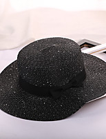 Women's Straw Straw Hat Sun Hat,Casual Hats Solid Summer