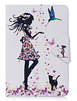 cheap -Case For Ipad Mini 1 2 3 Mini 4 Case Cover Sexy Lady Pattern PU Material Triple Tablet PC Case Phone Case