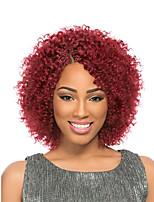 Krøllede fletninger Hårkrøller Jheri Curl Ombre hårfletter 100% kanekalon hår 100 % Kanekalon hår Sort / Bourgogne Sort / Grå Jordbær