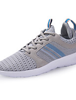 Unisex Sneaker Comfort Spring Fall Tulle Casual Office & Career Lace-up Flat Heel Blue Light Grey Black Flat