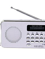 T-2050 Radio portable Lecteur MP3 Carte TFWorld ReceiverBlanc Bleu