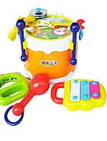 Toy Instruments Toys Round Square Drum kit Musical Instruments Drum Set Plastics Hard plastic Pieces Kid Unisex Gift