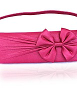 Women Bags All Seasons Silk Evening Bag Bow(s) Pleated for Wedding Event/Party Casual Formal Outdoor Fuchsia Wine