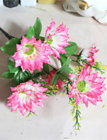The Artificial Chrysanthemum Chrysanthemum Silk Flower Living Room Potted With Flower Decoration Artificial Flowers