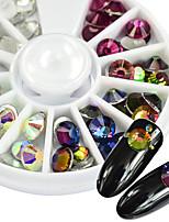 60pcs/Wheel Mix Colors SS30 6mm Glitter Glass Rhinestones Shiny Clear Crystal AB Fuchsia Blue Flame Flame Nail Art Rhinestones DIY Jewelry Decoration