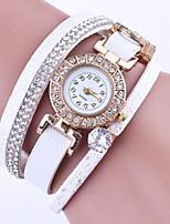Per donna Orologio da polso Orologio braccialetto Simulato Triangolo Orologio Quarzo PU Banda Braccialetto Nero Bianco Blu Rosso Grigio